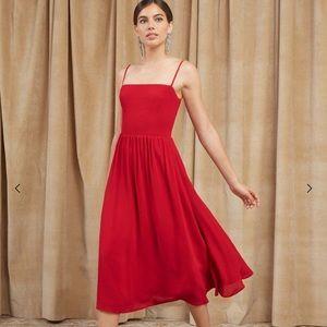 Reformation rosehip dress sz 8 in Lipstick, unworn